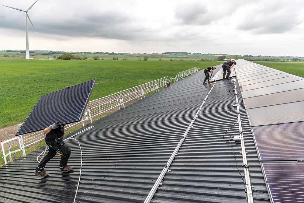 Installation av solceller på lantbruk