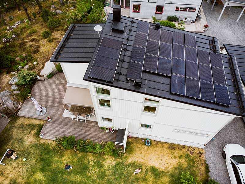 solceller på villa