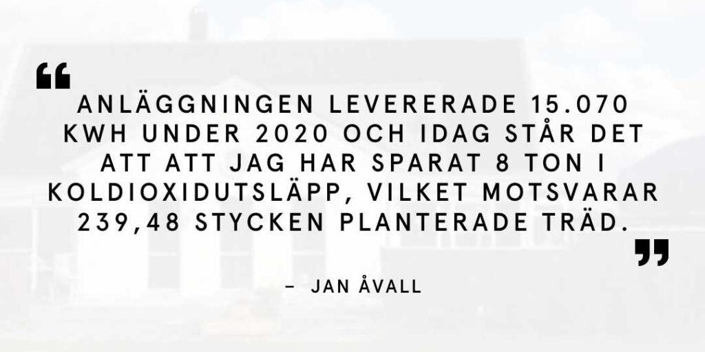 Kundcitat Jan Åvall